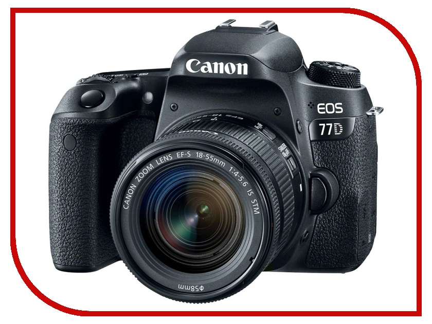 Фотоаппарат Canon EOS 77D Kit EF-S 18-55 mm F/3.5-5.6 III DC фотоаппарат зеркальный canon eos 200d ef s 18 55 is stm kit black