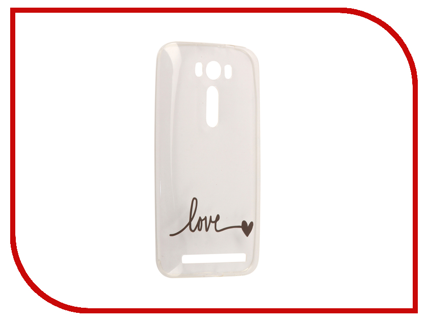 Аксессуар Чехол Asus ZenFone 2 ZE500KL Laser 5.0 With Love. Moscow Silicone Love 5792