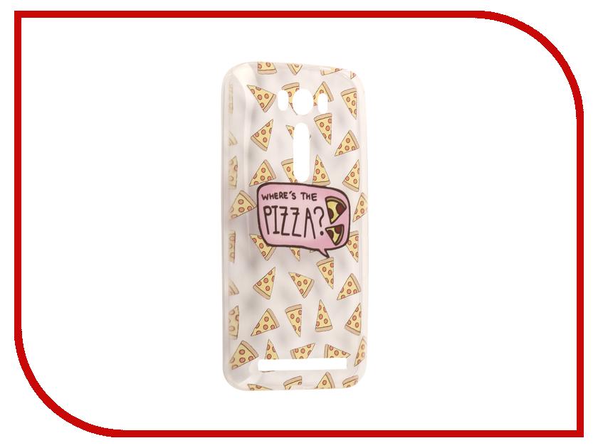 Аксессуар Чехол Asus ZenFone 2 ZE500KL Laser 5.0 With Love. Moscow Silicone Pizza 5796 чехлы для телефонов with love moscow силиконовый дизайнерский чехол для meizu m3s перья