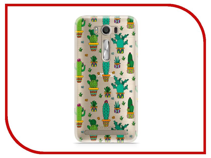 Аксессуар Чехол Asus ZenFone 2 ZE500KL Laser 5.0 With Love. Moscow Silicone Cactus 5812 телефон асус зенфон 2 лазер ze500kl отзывы