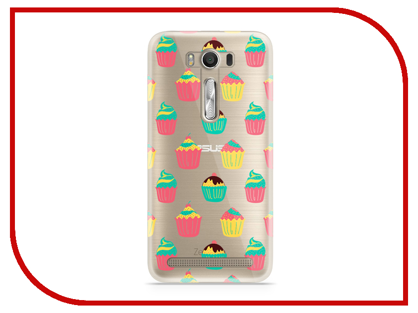 Аксессуар Чехол Asus ZenFone 2 ZE500KL Laser 5.0 With Love. Moscow Silicone Cupcakes 5813 betty crocker just cupcakes
