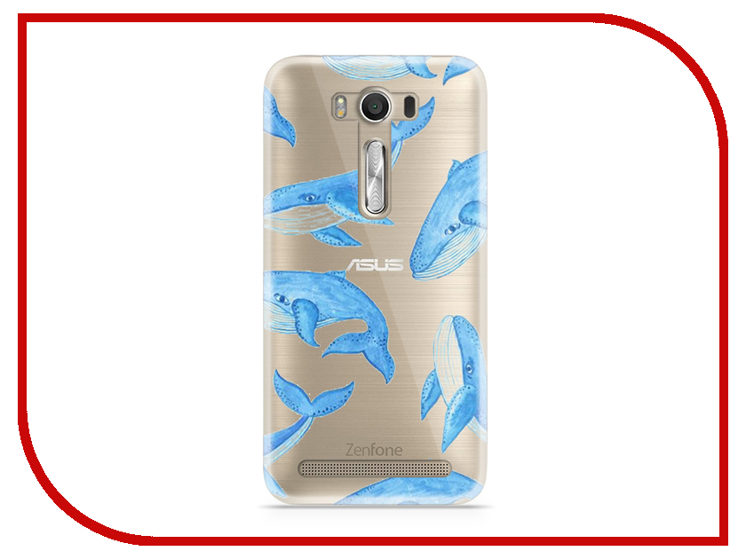 Аксессуар Чехол Asus ZenFone 2 ZE500KL Laser 5.0 With Love. Moscow Silicone Whales 5815