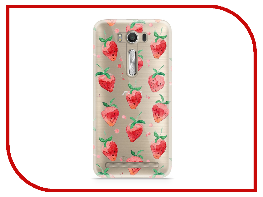 Аксессуар Чехол Asus ZenFone 2 ZE500KL Laser 5.0 With Love. Moscow Silicone Strawberry 5816 юбка strawberry witch lolita sk
