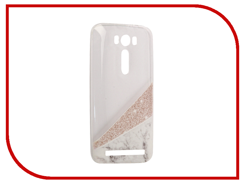 Аксессуар Чехол Asus ZenFone 2 ZE500KL Laser 5.0 With Love. Moscow Silicone Marble 5825 флип кейс для asus zenfone 2 laser ze500kl