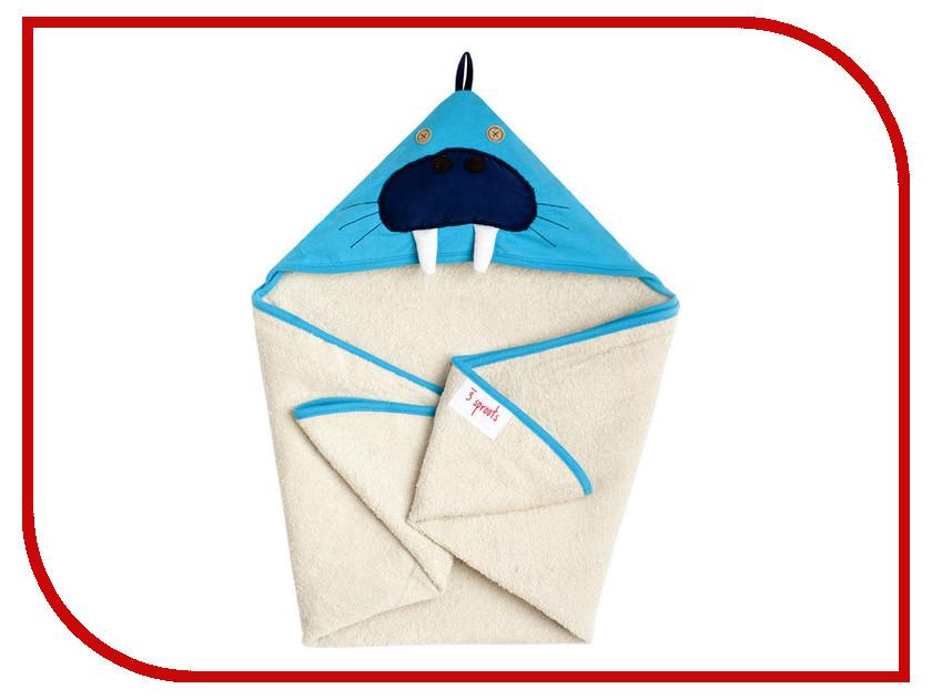 Полотенце с капюшоном 3 Sprouts Blue Walrus SPR107