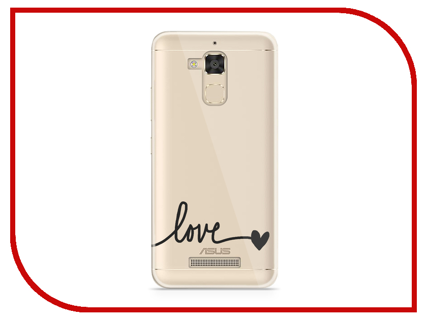 Аксессуар Чехол Asus ZenFone 3 Max ZC520TL With Love. Moscow Silicone Love 5848