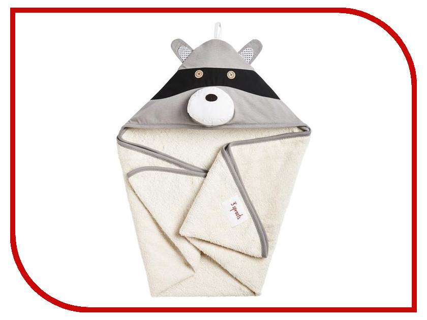 Полотенце с капюшоном 3 Sprouts Gray Raccoon SPR108