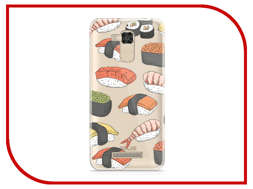 Аксессуар Чехол Asus ZenFone 3 Max ZC520TL With Love. Moscow Silicone Sushi 5889 stylish sushi tool vegetables combine with meat sushi machine