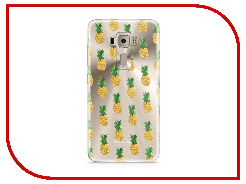 Аксессуар Чехол Asus ZenFone 3 ZE520KL With Love. Moscow Silicone Pineapples 5912 аксессуар чехол samsung galaxy a7 2017 with love moscow silicone lips 5080
