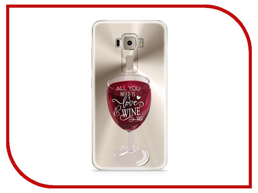 Аксессуар Чехол Asus ZenFone 3 ZE520KL With Love. Moscow Silicone Wineglass 5916 аксессуар чехол asus zenfone 3 ze520kl with love moscow кожаный black 10222