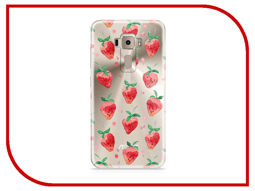 Аксессуар Чехол Asus ZenFone 3 ZE520KL With Love. Moscow Silicone Strawberry 5928 юбка strawberry witch lolita sk
