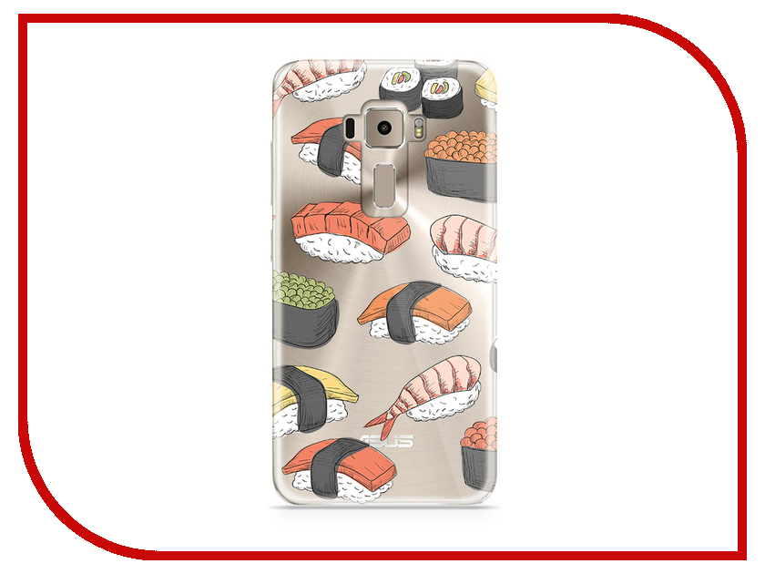 Аксессуар Чехол Asus ZenFone 3 ZE520KL With Love. Moscow Silicone Sushi 5945 stylish sushi tool vegetables combine with meat sushi machine