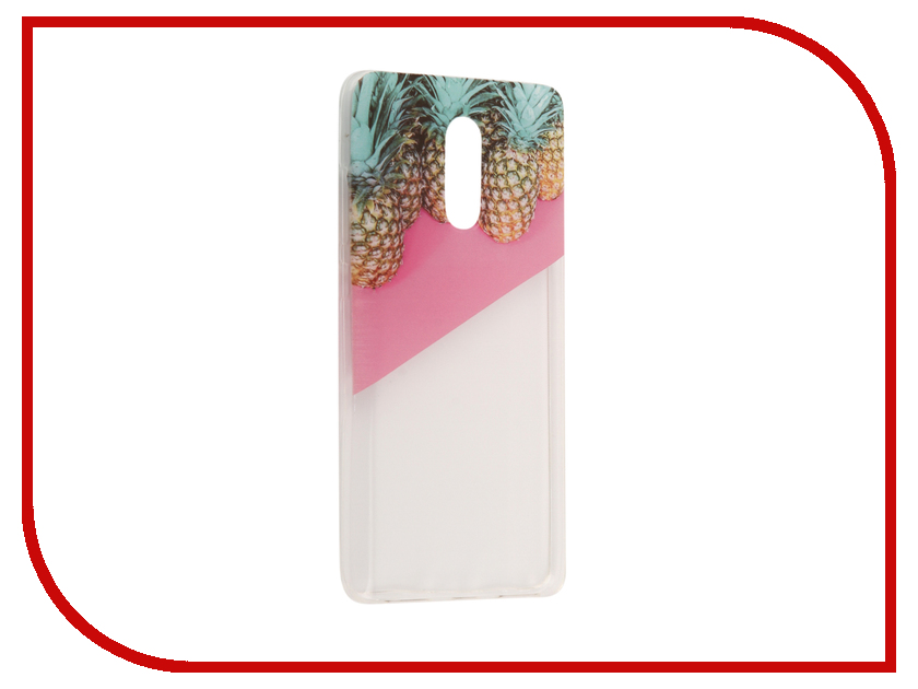 Аксессуар Чехол Xiaomi Redmi Pro With Love. Moscow Silicone Pineapples 2 6079