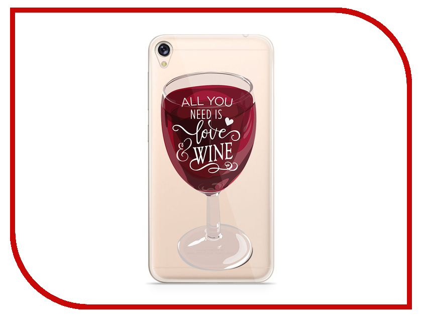 Аксессуар Чехол Asus ZenFone Live ZB501KL With Love. Moscow Silicone Wineglass 5972 аксессуар чехол samsung galaxy a7 2017 with love moscow silicone lips 5080
