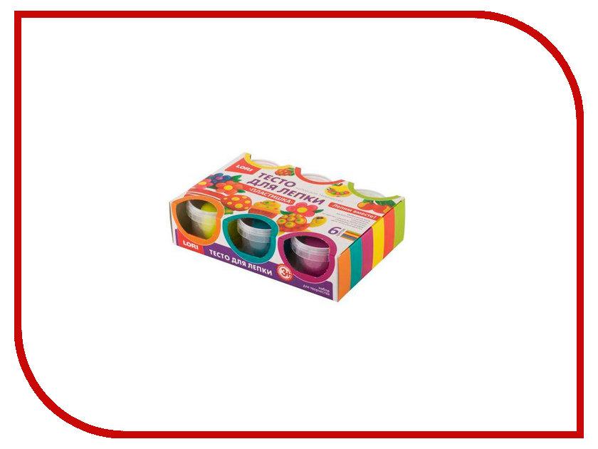 Набор для лепки Lori Тесто для лепки №13 6 цветов по 80g Тдл-016 lori набор для рукоделия дерево счастья сакура