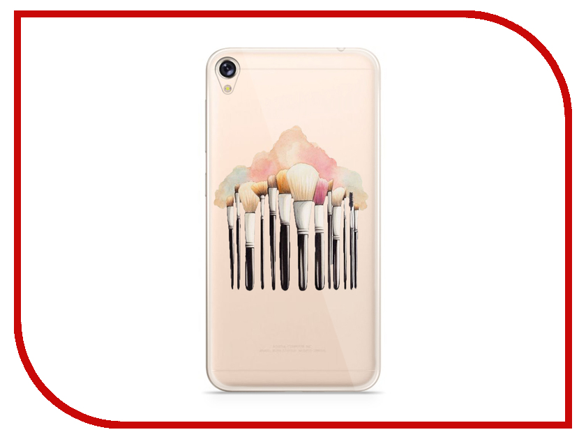 Аксессуар Чехол Asus ZenFone Live ZB501KL With Love. Moscow Silicone Brushes 5982