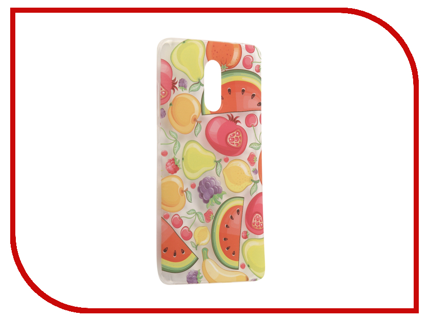 Аксессуар Чехол Xiaomi Redmi Pro With Love. Moscow Silicone Fruit 6114