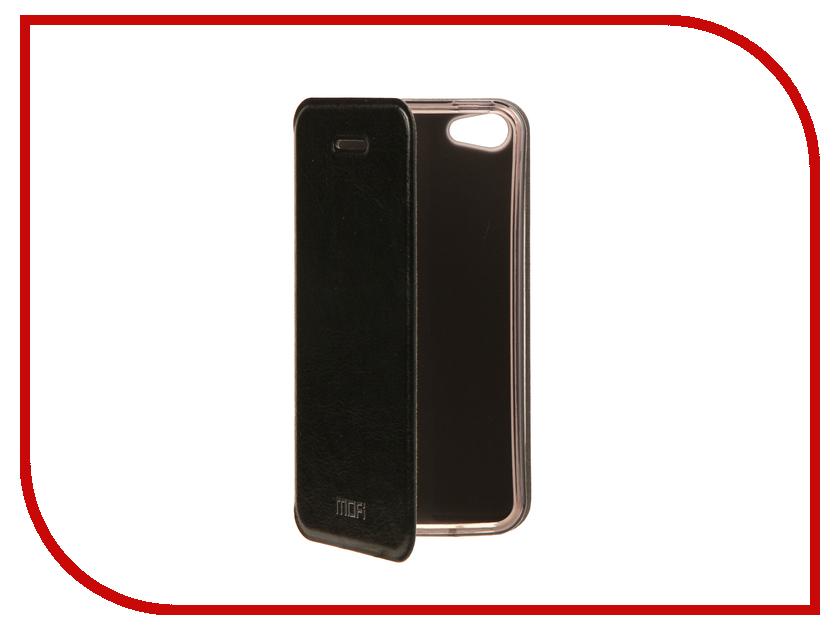 Аксессуар Чехол Mofi Vintage для APPLE iPhone 5S/SE Black 15010 аксессуар чехол накладка krutoff для apple iphone 5 5s se transparent black 10672