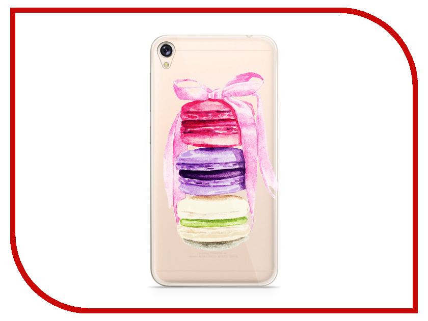 Аксессуар Чехол Asus ZenFone Live ZB501KL With Love. Moscow Silicone Makarons 5991