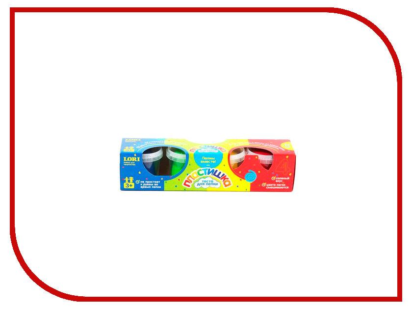 Набор для лепки Lori Тесто для лепки №4 4 цвета по 115g Тдл-007 lori набор для мальчиков юный скульптор lori