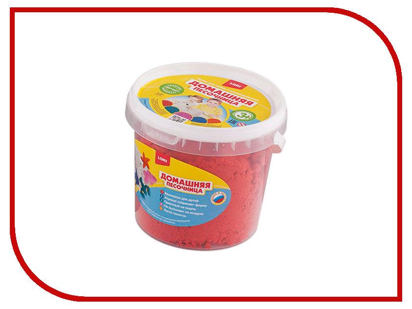 Набор для лепки Lori Домашняя песочница Красный песок 1kg Дп-013