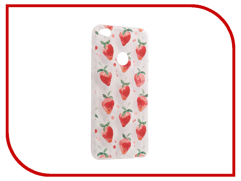 Аксессуар Чехол Huawei Honor 8 Lite / 8 Lite 2017 With Love. Moscow Silicone Strawberry 6208 аксессуар чехол meizu m5 note with love moscow silicone peace 6747