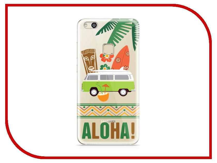 Аксессуар Чехол Huawei P10 Lite With Love. Moscow Silicone Aloha 6288