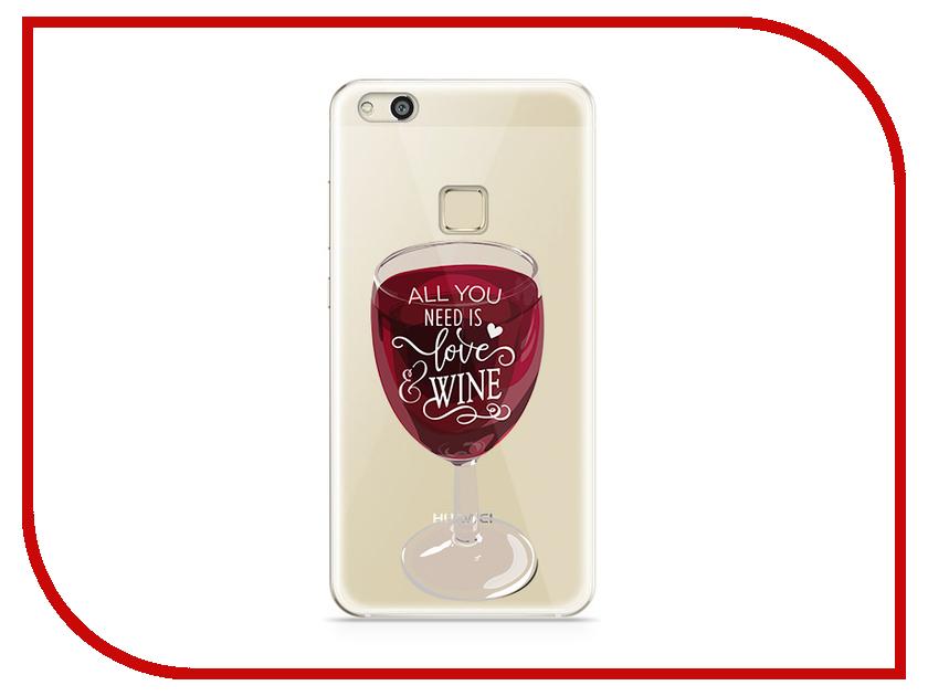 Аксессуар Чехол Huawei P10 Lite With Love. Moscow Silicone Wineglass 6308