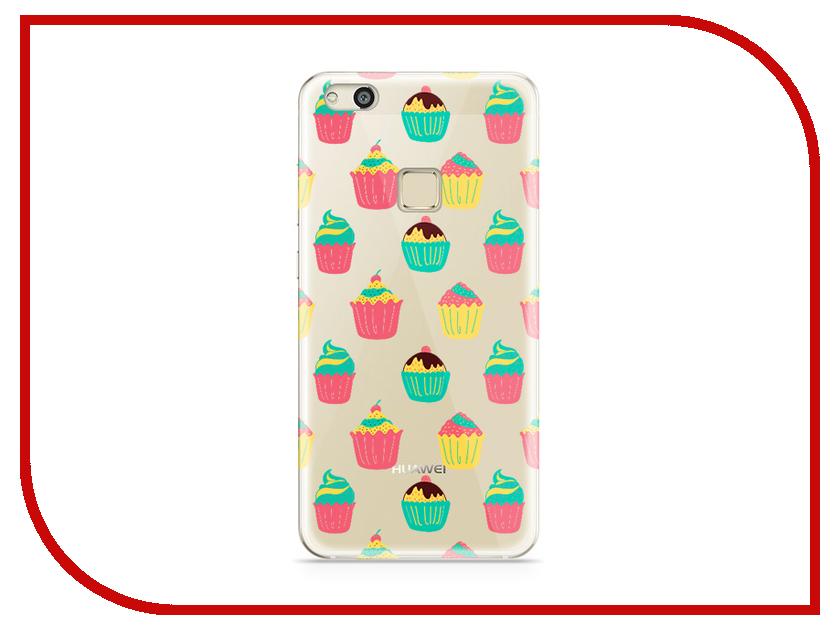 Аксессуар Чехол Huawei P10 Lite With Love. Moscow Silicone Cupcakes 6317