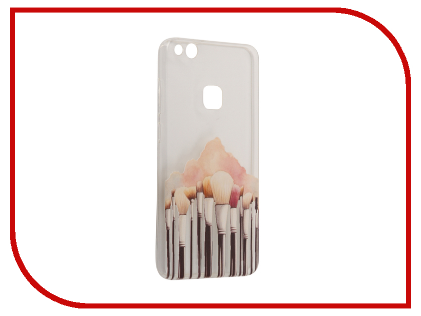 Аксессуар Чехол Huawei P10 Lite With Love. Moscow Silicone Brushes 6318