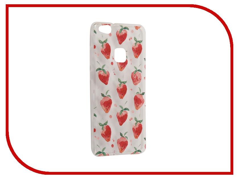 Аксессуар Чехол Huawei P10 Lite With Love. Moscow Silicone Strawberry 6320