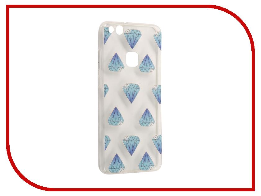 Аксессуар Чехол Huawei P10 Lite With Love. Moscow Silicone Crystals 6323