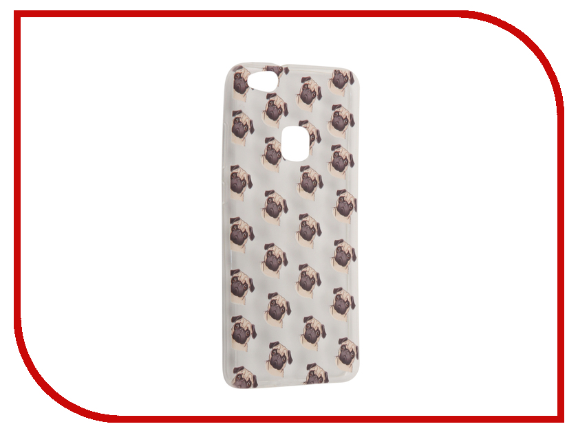 Аксессуар Чехол Huawei P10 Lite With Love. Moscow Silicone Pugs 6328