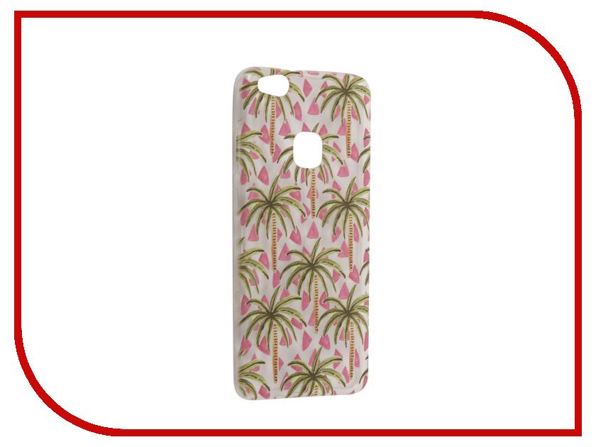 Аксессуар Чехол Huawei P10 Lite With Love. Moscow Silicone Palms 6330