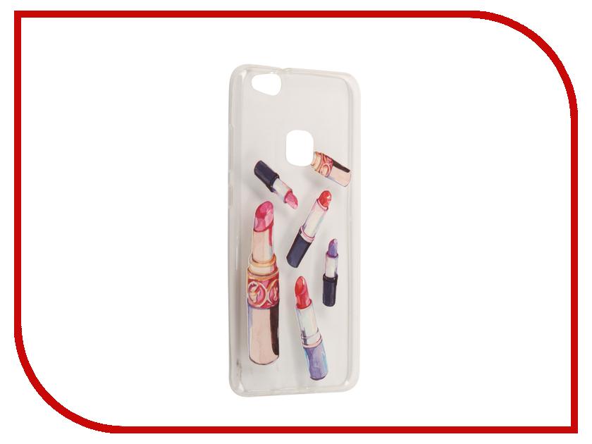 Аксессуар Чехол Huawei P10 Lite With Love. Moscow Silicone Lipsticks 6332