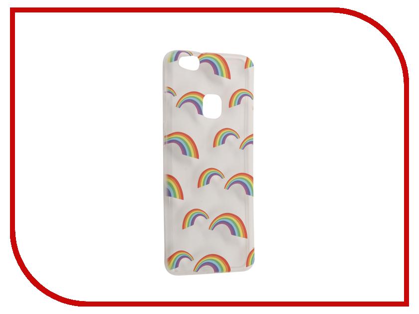 Аксессуар Чехол Huawei P10 Lite With Love. Moscow Silicone Rainbow 6334