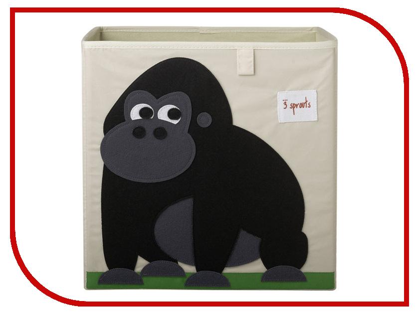 Коробка для игрушек 3 Sprouts Black Gorilla SPR406
