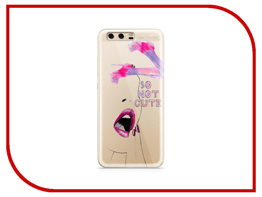 Аксессуар Чехол Huawei P10 Plus With Love. Moscow Silicone So Not Cute 6358 аксессуар чехол huawei p10 plus with love moscow silicone hello summer 6347