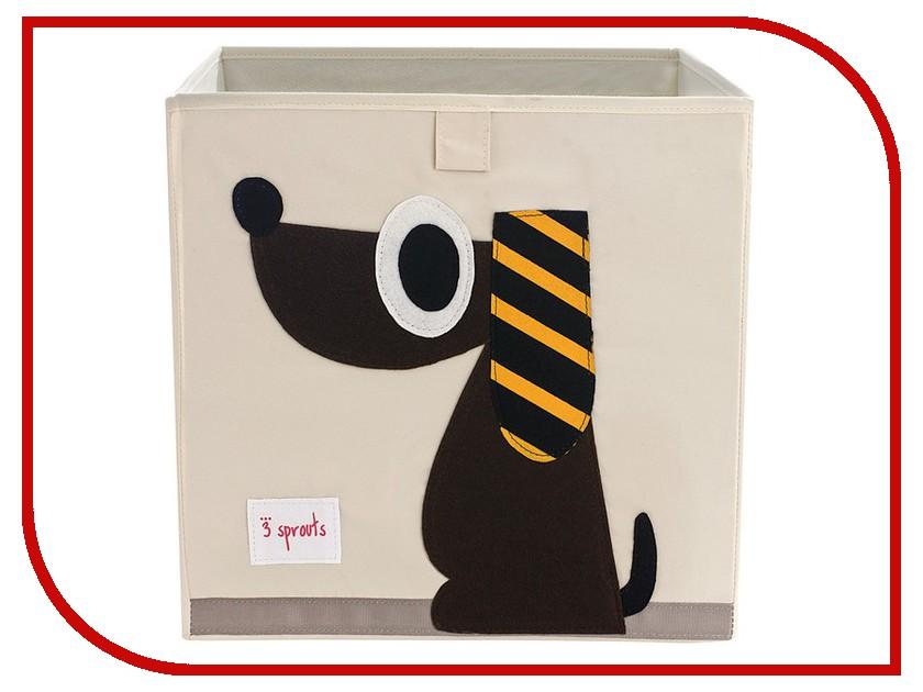 Корзина для игрушек 3 Sprouts Brown Dog SPR401 корзина для игрушек 3 sprouts black bear spr908