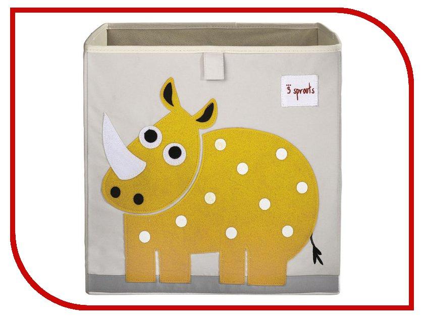 Корзина для игрушек 3 Sprouts Yellow Rhino SPR408 аксессуар dunlop whe202 green rhino overdrive