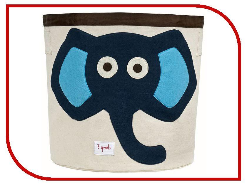 Корзина для игрушек 3 Sprouts Blue Elephant SPR202
