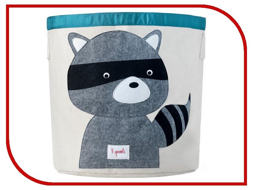 Корзина для игрушек 3 Sprouts Grey Raccoon SPR208 3 sprouts корзина для белья козочка grey goat 3 sprouts