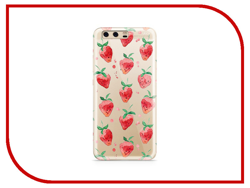 Аксессуар Чехол Huawei P10 Plus With Love. Moscow Silicone Strawberry 6376 аксессуар чехол huawei p10 plus with love moscow silicone hello summer 6347