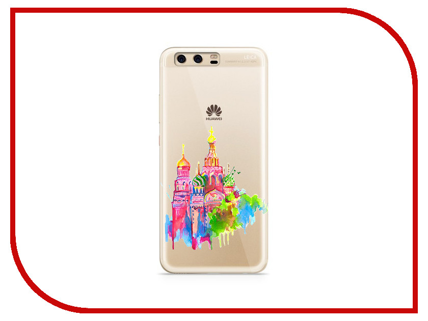 Аксессуар Чехол Huawei P10 Plus With Love. Moscow Silicone Russia 6378 mooncase premium pu flip leather wallet card pouch back чехол для cover apple iphone 5 5g 5s синий