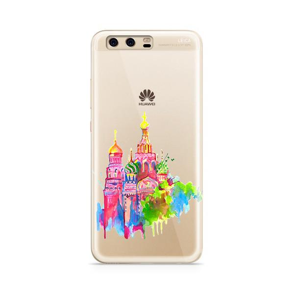 Аксессуар Чехол With Love. Moscow для Huawei P10 Plus Silicone Russia 6378