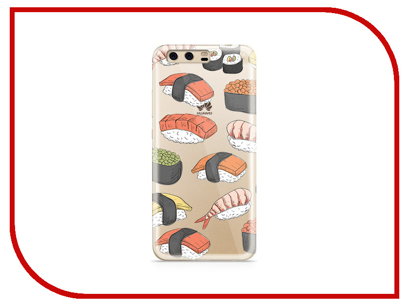 Аксессуар Чехол Huawei P10 Plus With Love. Moscow Silicone Sushi 6393 аксессуар чехол huawei p10 plus with love moscow silicone pizza 6356