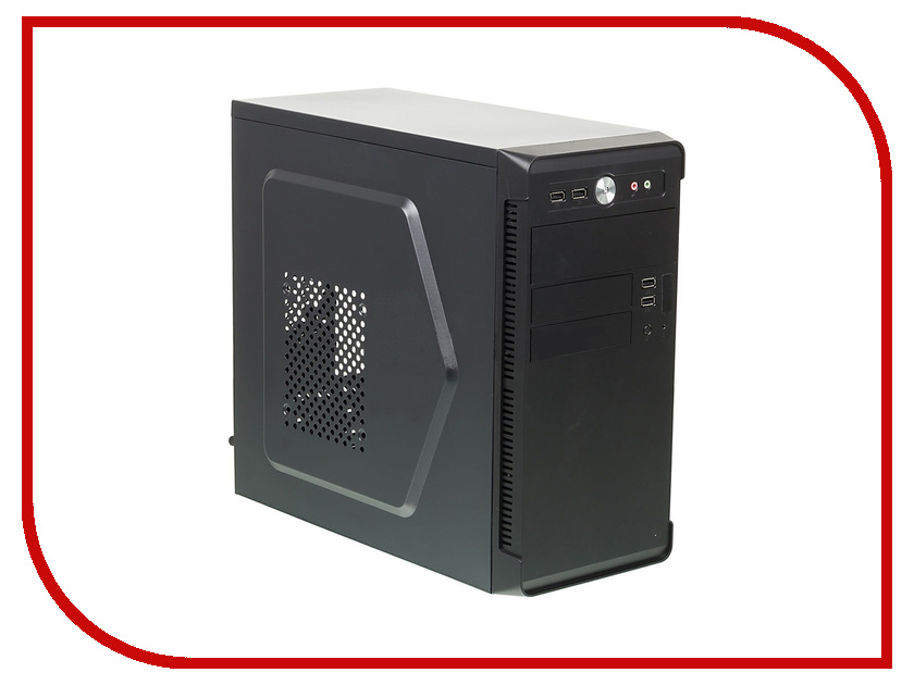 Корпус Accord ACC-B022 Black корпус microatx accord acc b022 без бп чёрный