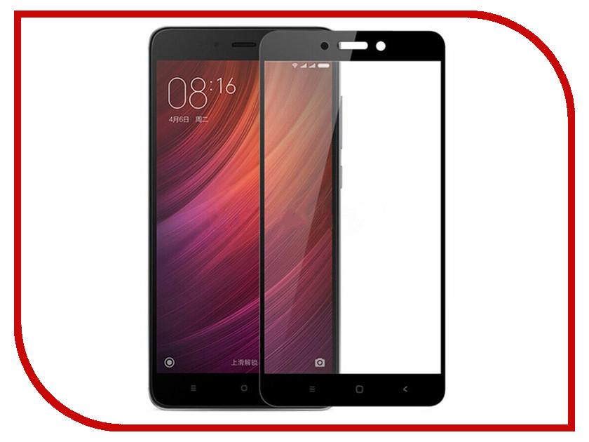 Аксессуар Защитное стекло Xiaomi Redmi Note 4X BoraSCO Full Cover Black 0.2mm аксессуар защитное стекло meizu u10 borasco 0 2mm