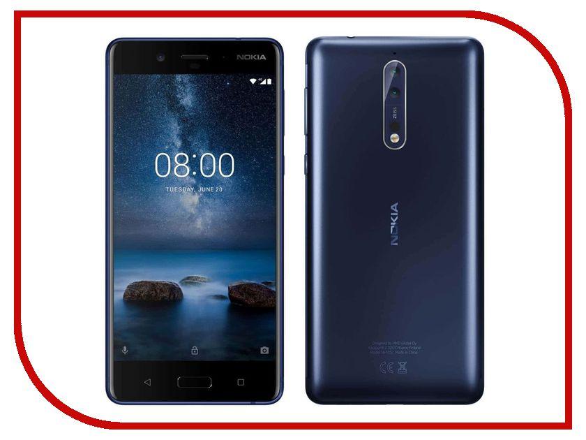 Сотовый телефон Nokia 8 Dual Sim Blue Mat сотовый телефон nokia 2 dual sim white