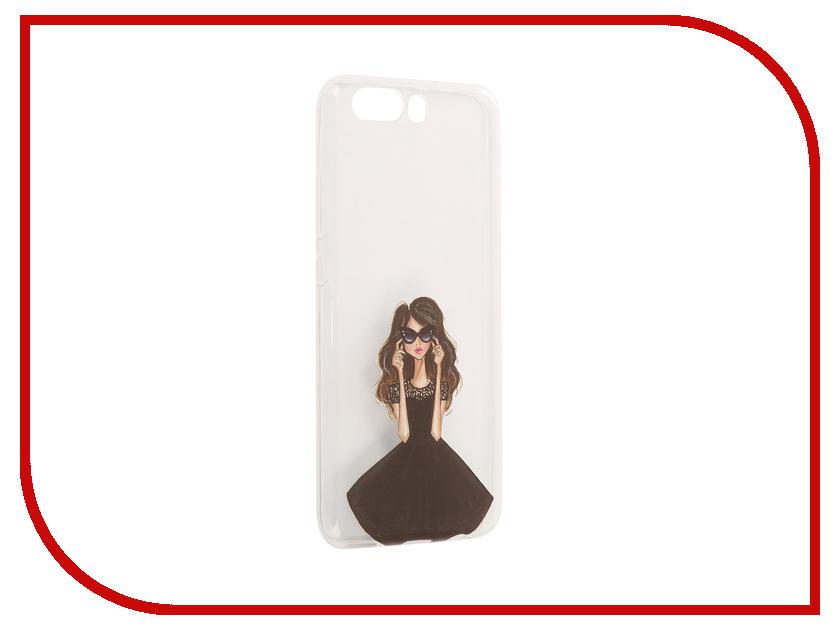 цена на Аксессуар Чехол Huawei P10 With Love. Moscow Silicone Girl in a Dress 6425